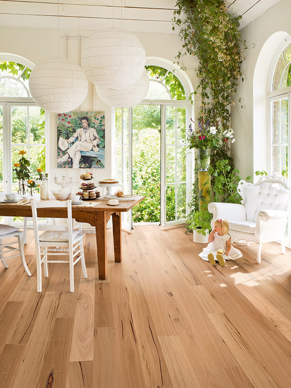 Timber flooring in a Gold Coast dining room